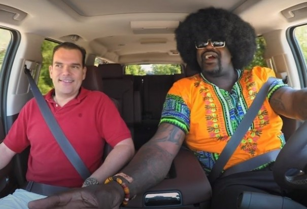 Shaq goes undercover for Lyft