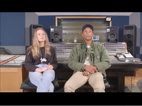 Young Folk & EDM Artist Stuns Pharrell In An Episode Of Masterclass - WATCH