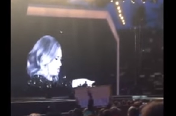 WATCH: Adele Tells Fan To Stop Filming Her In Concert!