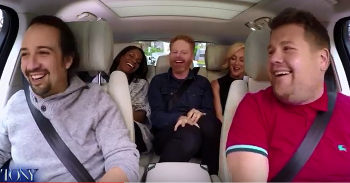 WATCH! James Corden hits Broadway!