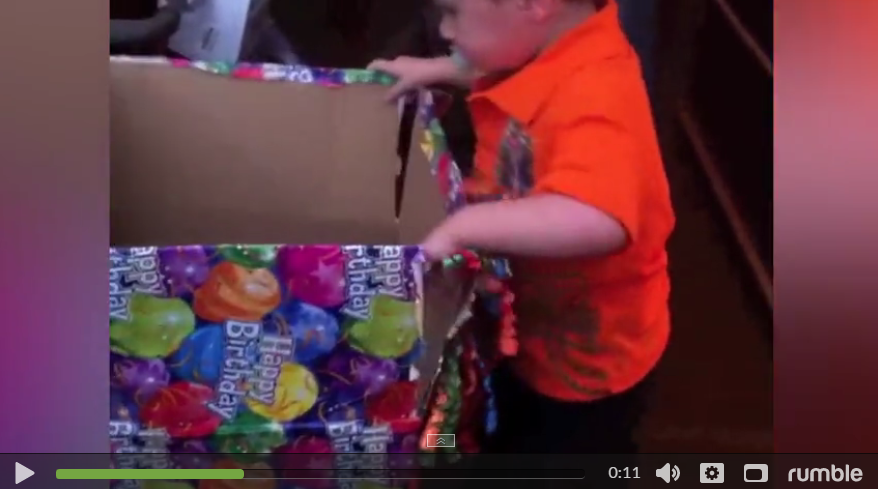 Little Boy Does Not Like His Birthday Present, Wants To Give It Back. You'll Never Guess What It is - WATCH