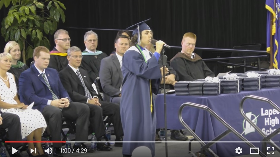 2016 High School Graduate JP Wallace Sings AMAZING Rendition Of '7 Years' During Ceremony - WATCH