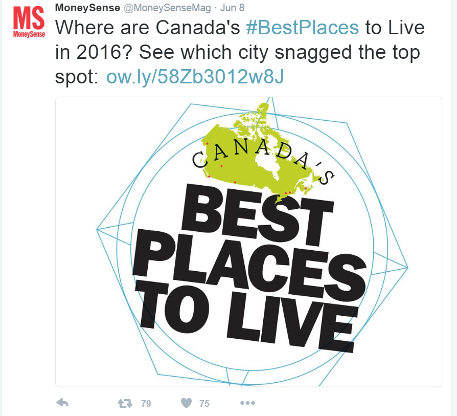 Waterloo makes Top Ten on Best Places To Live list!