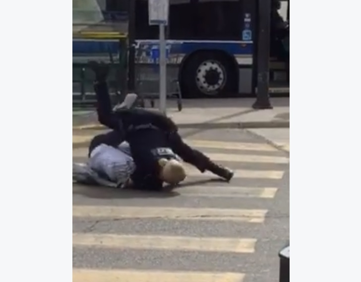 WATCH: WRPS Officer Takes Down Axe Wielding Man At Fairview Mall In Kitchener