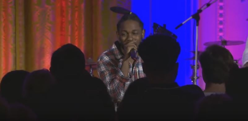 WATCH: Kendrick Lamar performed at the Independence Day White House celebration yesterday.