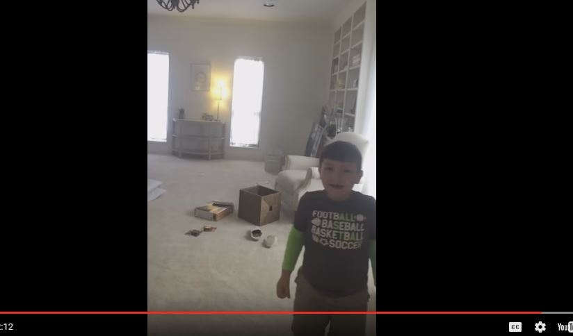 Seven-year-old boy learns that he is cancer-free.
