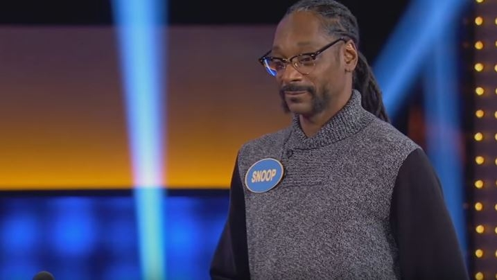 Snoop Dogg couldn't get the top answer when asked a marijuana question on Family Fued!