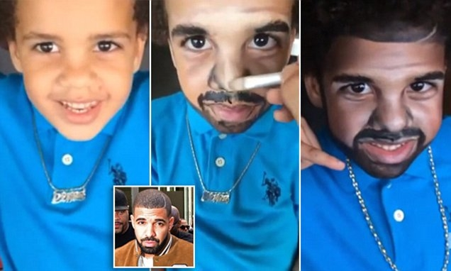 Makeup Artist Transforms 5 Yr Old into a Mini-DRAKE.....Soooo AWESOME!!! (WATCH)