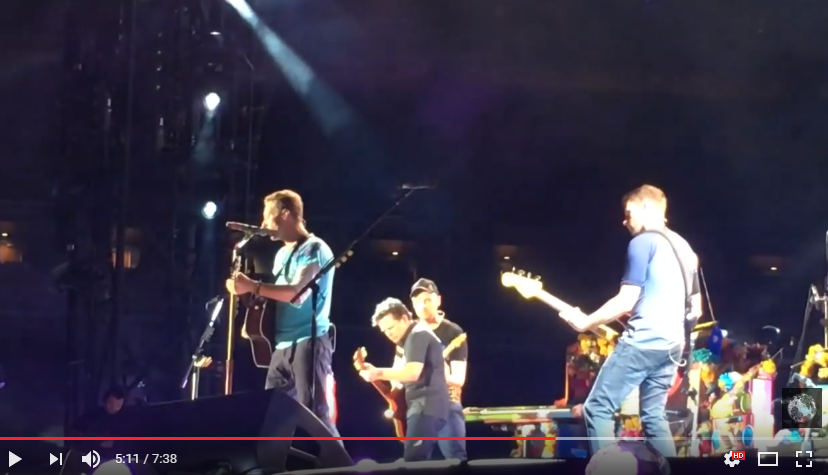 Coldplay Surprised Their Audience With A Surprise Visit From Marty McFly - WATCH