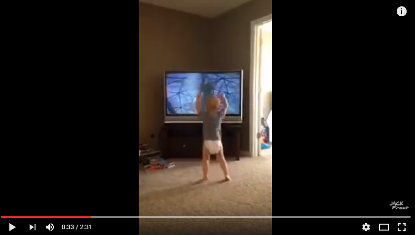 Baby Watching 'Rocky' Imitates With Impression Of Sylvester Stallone - WATCH