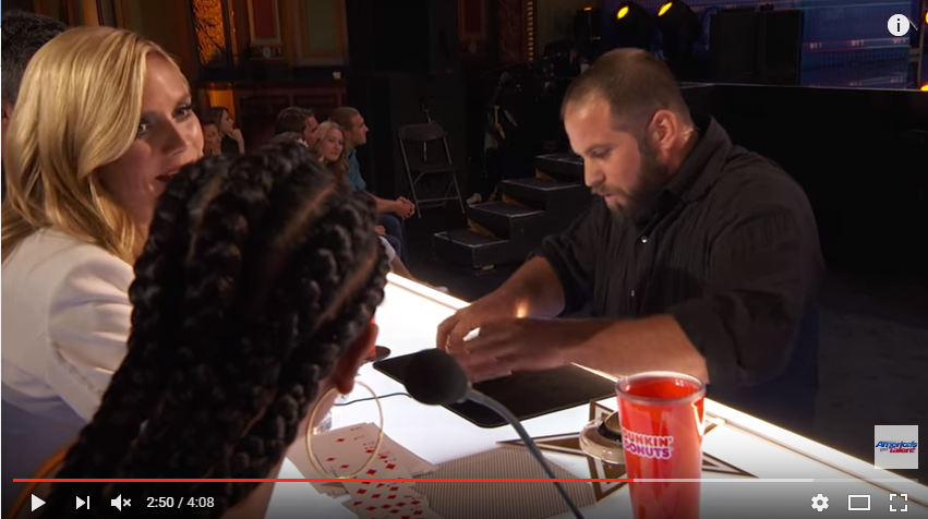 Ex Football Player Stuns With Unreal Magic Trick On America's Got Talent - WATCH