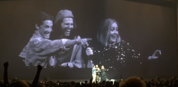 Adele invited to a fans wedding on stage and says YES!!!