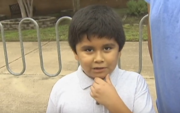 Excited 4th grader does amazing TV interview on first day of school