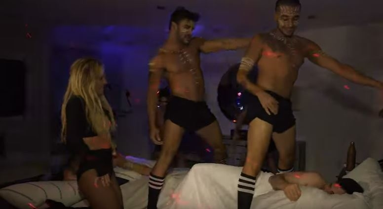 Britney Spears sneaks into Jimmy Kimmel's bedroom for a performance at 1:46AM!