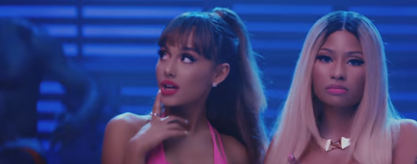 "Ariana Grande & Nicki Minaj new music video for ""Side To Side"" *NSFW* WATCH:"