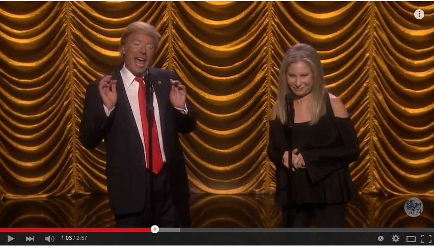 Jimmy Fallen Brought On Barbara Streisand To Sing A Little Duet About The Election - WATCH