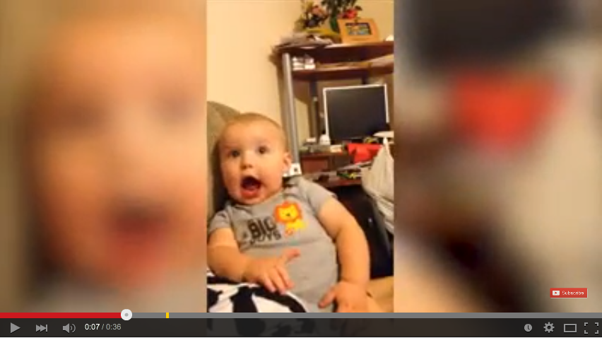 Adorably Cute Baby Makes Hilarious Faces Causing Everyone To Giggle - WATCH
