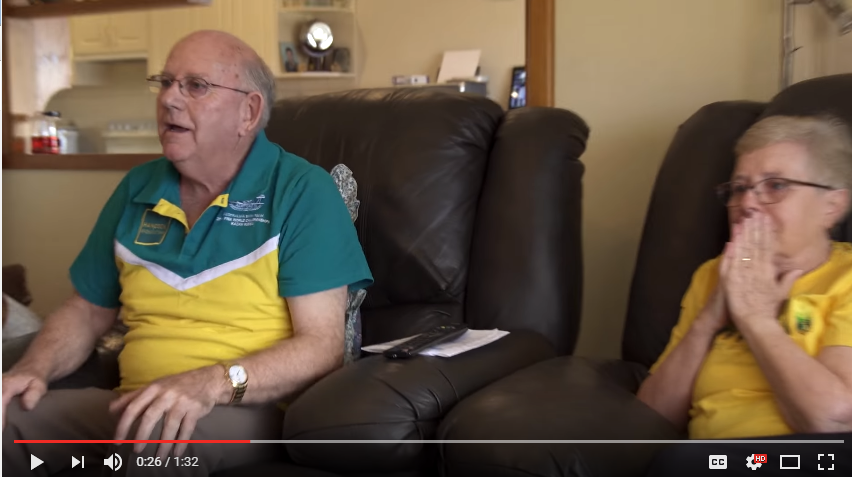 That Heart Warming Moment Your Grandparents Watch You Win Gold - WATCH
