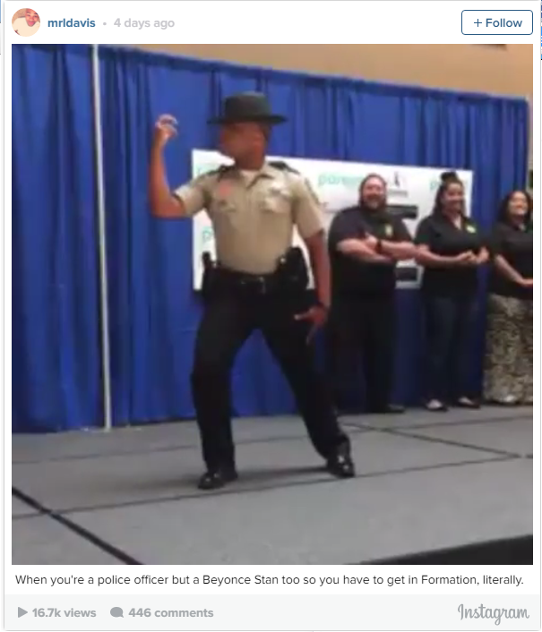 Police Officer In Virginia Let Out His Inner Beyonce During A Charity Event - WATCH