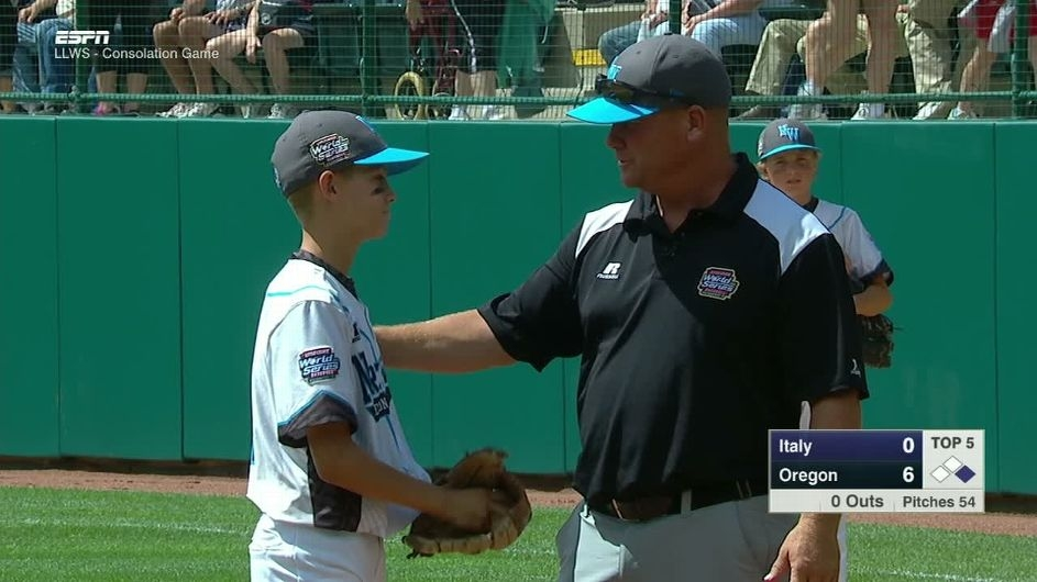 Little League Coach Visits Mound to Tell Son He Loves Him (WATCH)