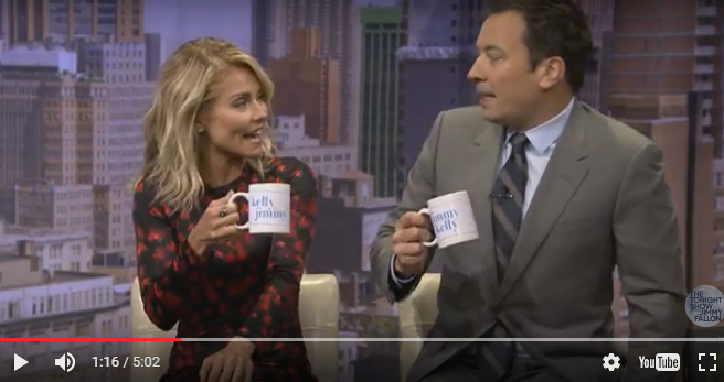 Kelly Ripa auditions Jimmy Fallon to Be Her 'Live' Cohost in 'Tonight Show' skit.