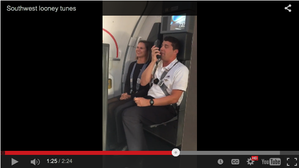 Flight Attendant Rambles Off Amazing Looney Tunes Impressions While Making Landing Speech - WATCH