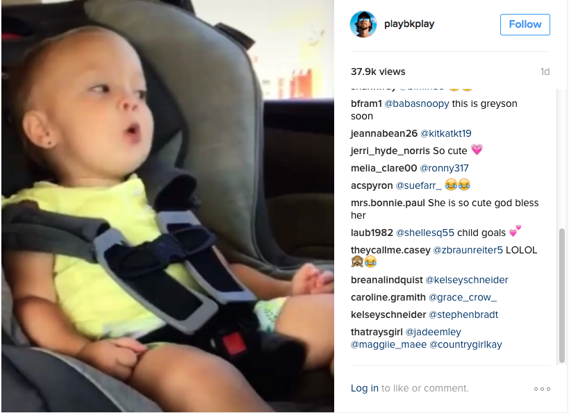 Baby Does Adorable Spot On Lip Sync In Car Seat - WATCH