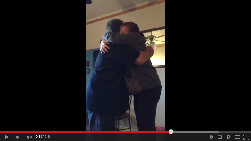 Super Awesome Moment When A Brother And Sister See Each Other For First Time In 24 Years - WATCH