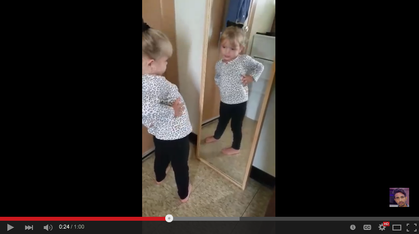 Little Girl Loves Her Outfit So Much She Gives Adorable Pep Talk In The Mirror - WATCH