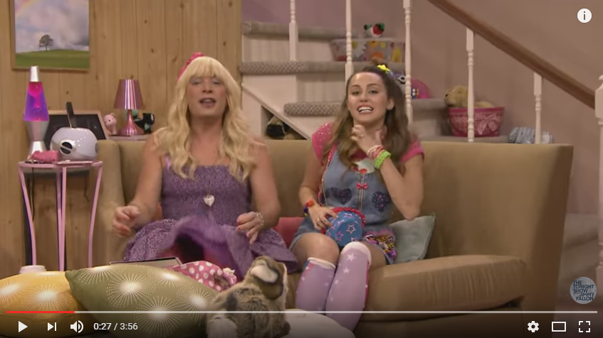 FINALLY! Sara aka. Jimmy Fallon Is Back With Another EW! Special Guest, Miley Cyrus!! - WATCH