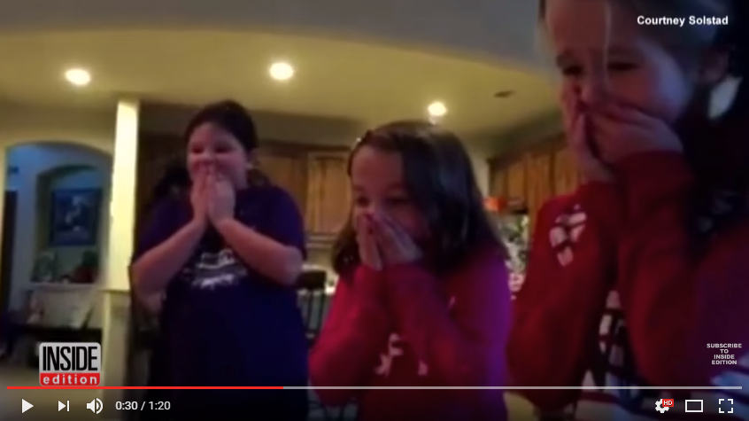 Kids Find Adopted Baby Brother Under The Christmas Tree, So Much Love Ensues - WATCH