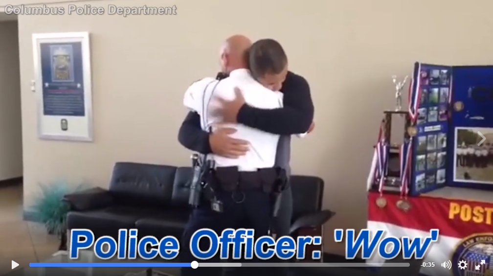 Police Officer Is Surprised When He Meets A Young Boy He Saved 19 Years Ago - WATCH