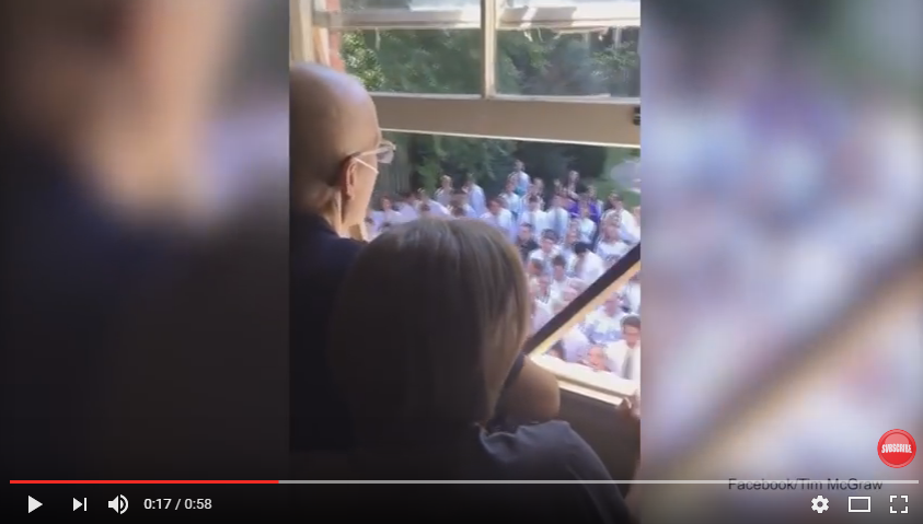 Prepare The Tissues: Over 400 Students Show Up To Sick Teachers House To Sing Prayer Outside Window - WATCH