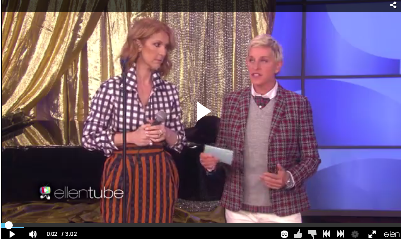 Celine Dion Proves Shes One Of The Greats On Ellen While Singing Some Nelly, Britney, & Even Missy Elliott - WATCH