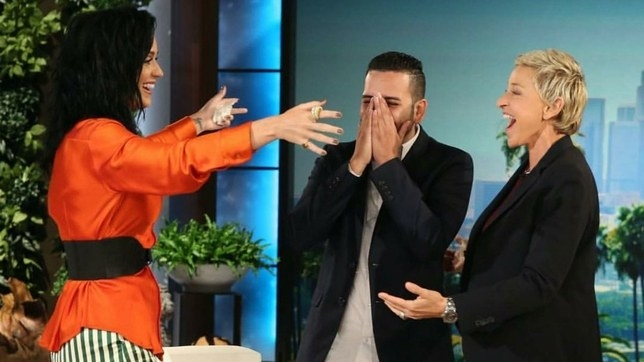 KATY PERRY Surprises Pulse Shooting Survivor on Ellen. (WATCH)