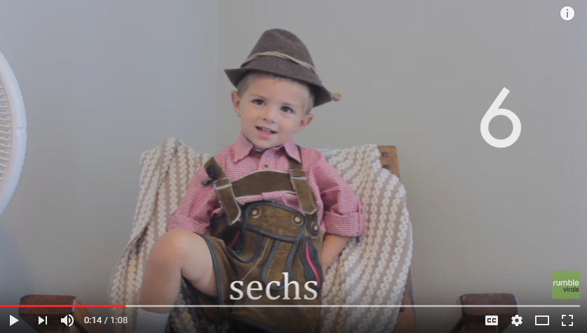 With 23 Days Until KW Oktoberfest This 2 Year Old Is Teaching Us To Count To 20 In German - WATCH