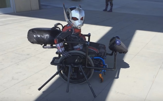 This amazing artist makes wheelchair Halloween costumes for kids with disabilities for FREE!