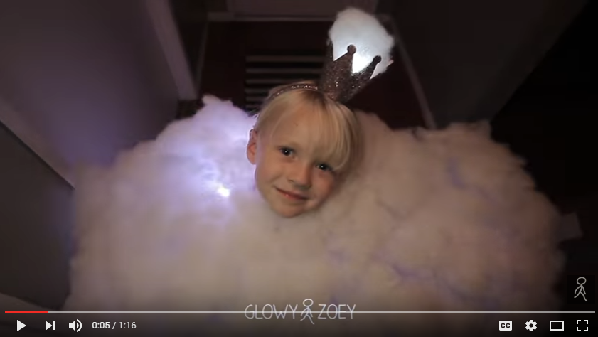 Dad Helps Daughter Makes Amazing Princess Thunder Cloud Costume That Actually Works! - WATCH
