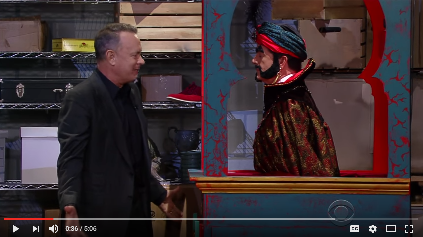 Tom Hanks Relives 'BIG' After Finding Zoltar In A Closet On Stephen Colbert - WATCH