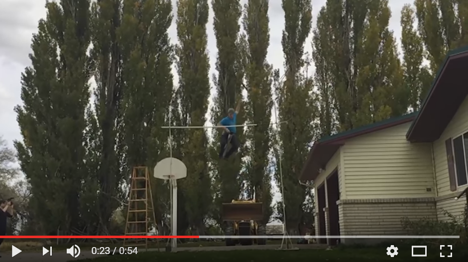 Guy Pogo's Into The Record Books With An 11 Foot Pogo Jump - WATCH