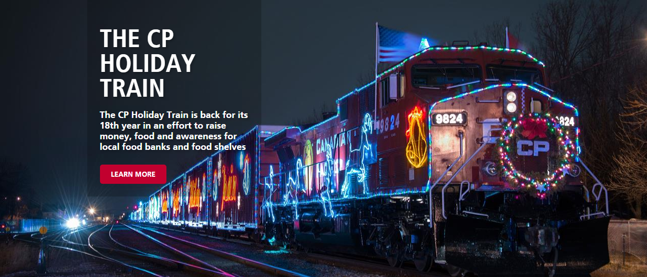 The CP Holiday Train Is BACK! Find Out When & Where To Find The Lights and Holiday Spirit HERE
