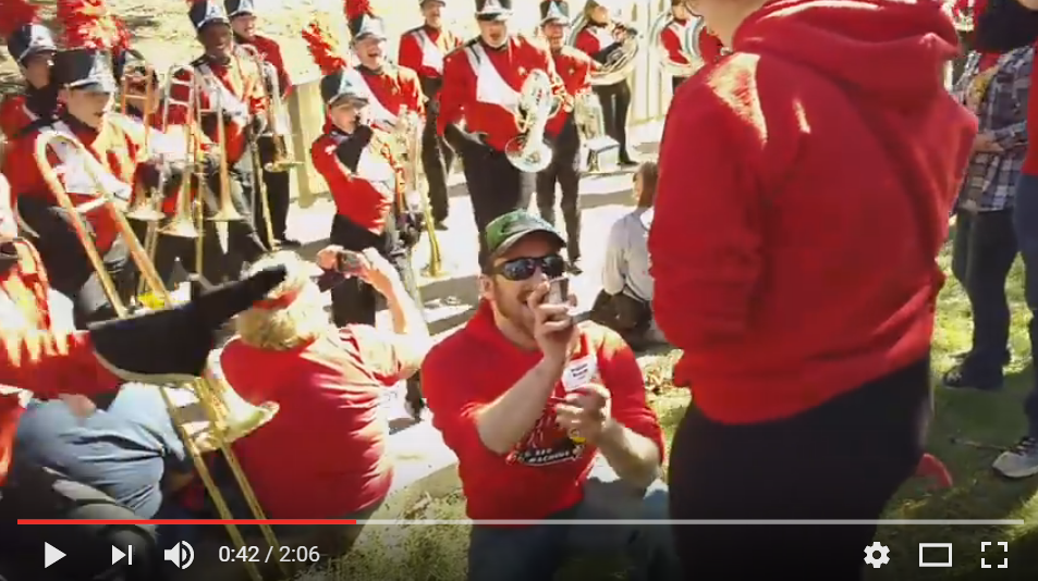 Fan Of 'Dirty Dancing'? Guy Get's Help From Marching Band For Epic Proposal! - WATCH