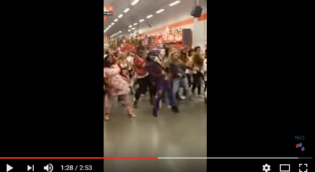 "Flashmob to ""Thriller"" by MJ at a Home Depot for Halloween!"