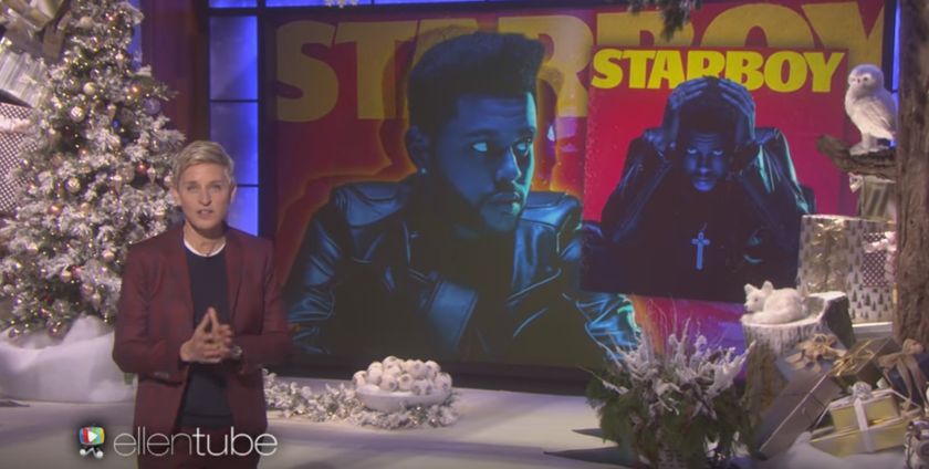 "WATCH/LISTEN: The Weeknd performs ""Starboy"" on the Ellen show!"