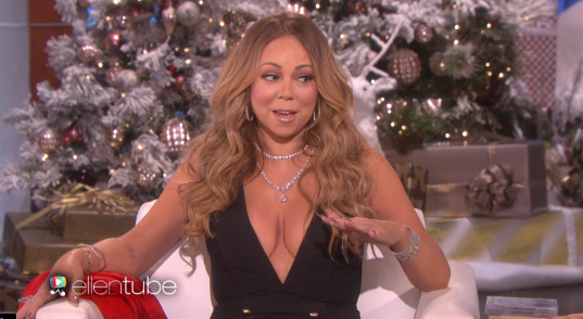 WATCH:Ellen gets Mariah a Christmas gift and things get awkward when she asks Mariah about James Packer