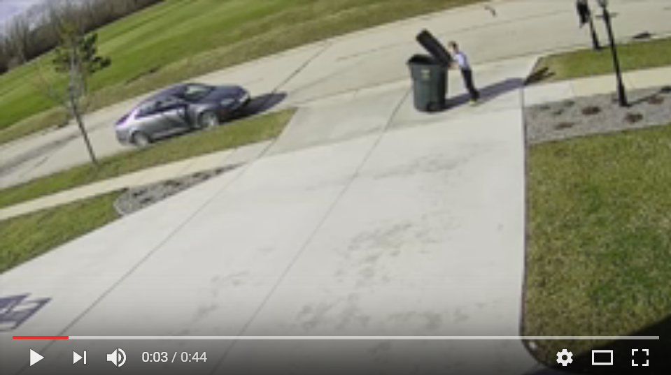 Kid Totally Regrets Doing Chores When He's Attacked In The Wind By His Garbage Can - WATCH