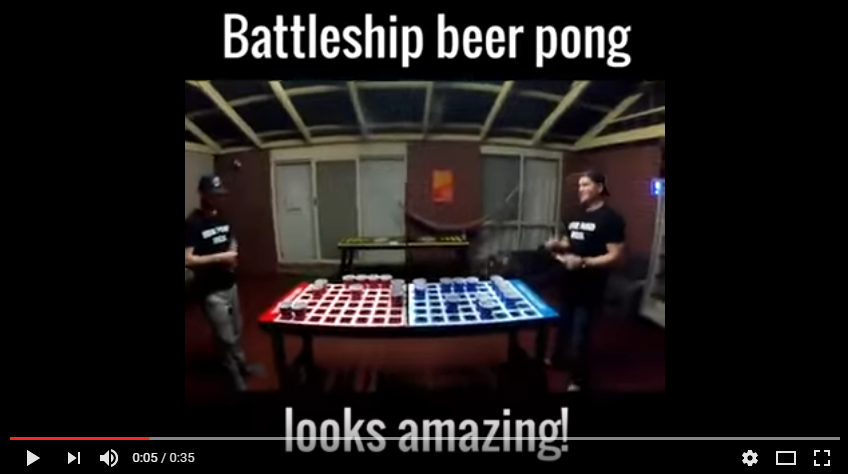 Do You Know A Gamer Who Is Also A Beer Fan? Check Out This Easy To Make Battleship Beer Pong - WATCH