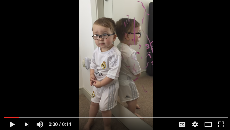 Little Boy Has Best Response To Who Drew On His Mom's Mirror - WATCH