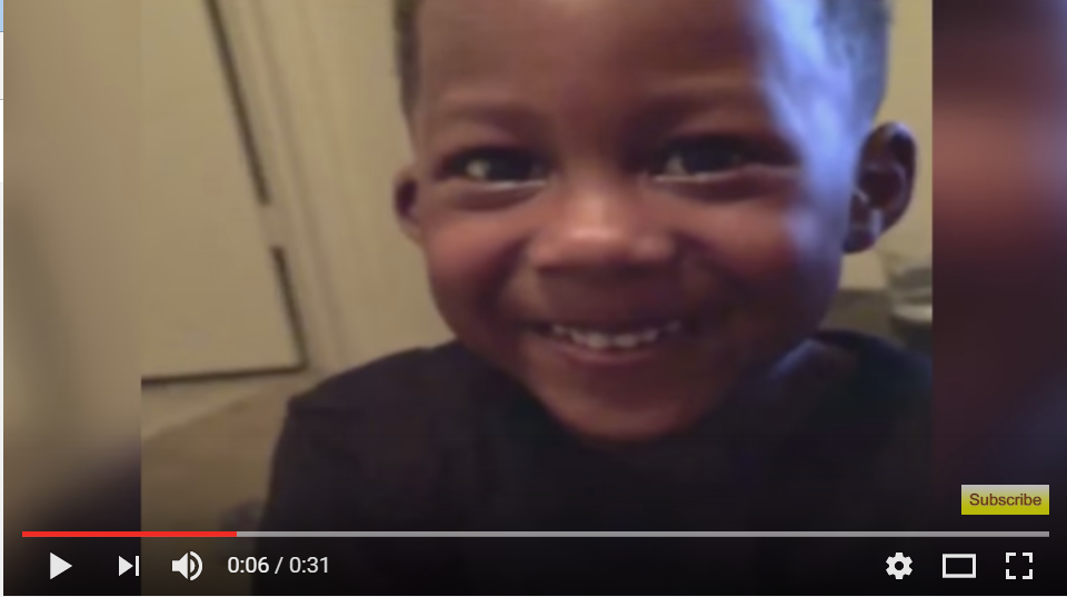 Little Boy Gets Adorably Embarrassed When He Thinks Cue Card Says A Bad Word - WATCH