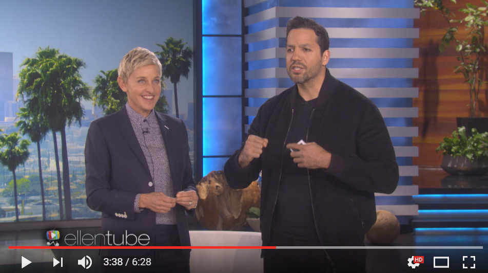 David Blaine Continues To Amaze While Visiting The Ellen Show - WATCH